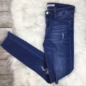 Buckle KanCan Distressed Raw Hem Skinny Jeans